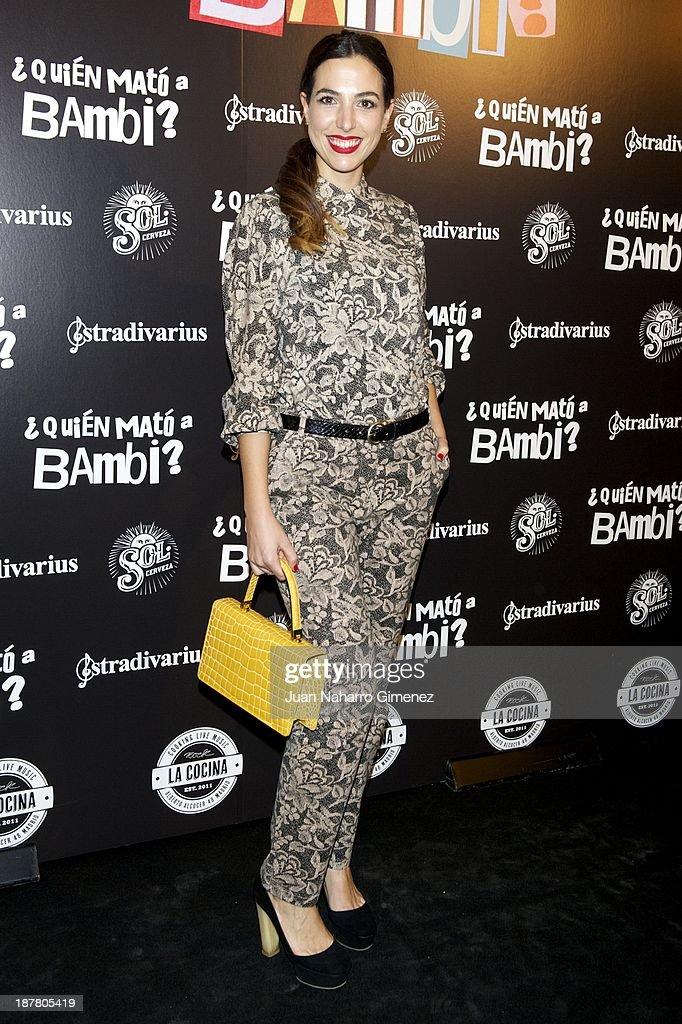 Alicia Rubio attends 'Quien Mato a Bambi?' premiere at La Cocina Rock Bar on November 12, 2013 in Madrid, Spain.