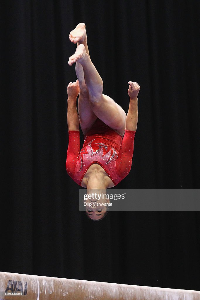 <a gi-track='captionPersonalityLinkClicked' href=/galleries/search?phrase=Alicia+Sacramone&family=editorial&specificpeople=227036 ng-click='$event.stopPropagation()'>Alicia Sacramone</a> competes on the balance beam during the Senior Women's competition on day two of the Visa Championships at Chaifetz Arena on June 8, 2012 in St. Louis, Missouri.