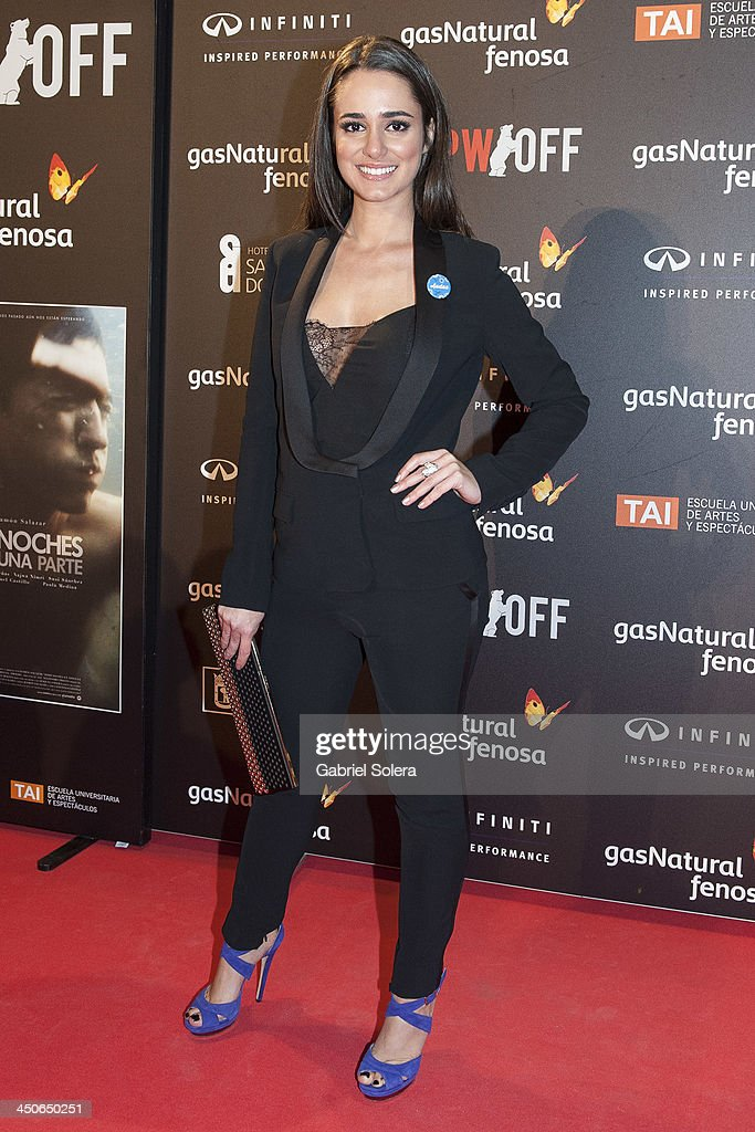 Alicia Sanz attends '10.000 Noches en Ninguna Parte' Madrid Premiere at Callao cinema on November 19, 2013 in Madrid, Spain.