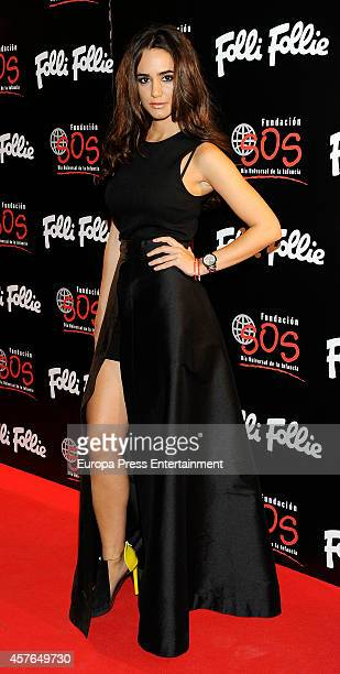 Alicia Sanz attends 'Folli Follie' new charity collection presentation on October 21 2014 in Madrid Spain
