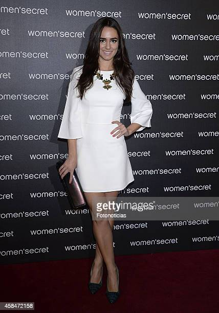 Alicia Sanz attends the Women Secret's 'Dark Seduction' fashion film premiere at Callao Cinema on November 5 2014 in Madrid Spain
