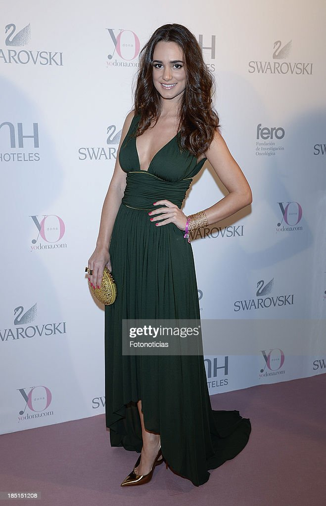 Alicia Sanz attends Yo Dona and Swarovski 'Pink Hope' event on October 17, 2013 in Madrid, Spain.