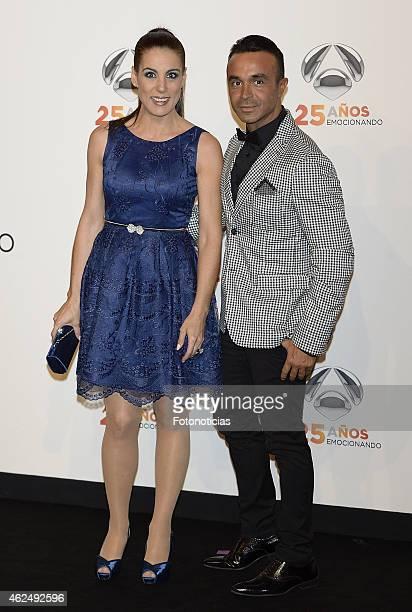 Alicia Senovilla and Luis Rollan attend 'Antena 3' 25th Anniversary Reception at the Palacio de Cibeles on January 29 2015 in Madrid Spain