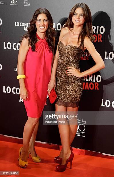 Alicia Senovilla and Romina Belluscio attend 'Lo Contrario al Amor' premiere at Callao cinema on August 25 2011 in Madrid Spain