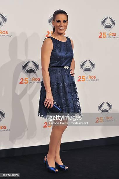 Alicia Senovilla attends 'Antena 3' 25th Anniversary Reception at the Palacio de Cibeles on January 29 2015 in Madrid Spain