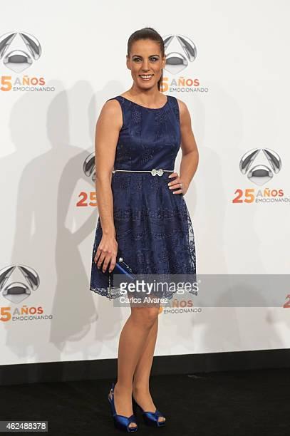 Alicia Senovilla attends Antena 3 TV Channel 25th anniversary party at the Palacio de Cibeles on January 29 2015 in Madrid Spain