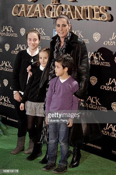 Alicia Senovilla attends 'Jack el Caza Gigantes' premiere photocall at Kinepolis cinema on March 13 2013 in Madrid Spain