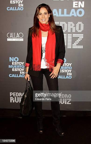 Alicia Senovilla attends 'No estoy muerto estoy en Callao' premiere photocall at Callao cinema on October 22 2012 in Madrid Spain