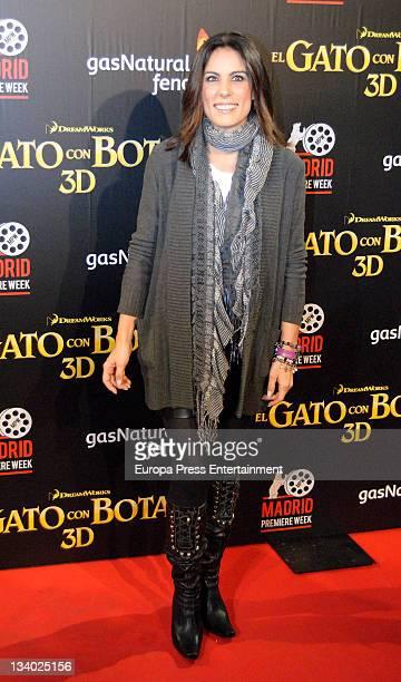 Alicia Senovilla attends 'Puss in Boots' premiere at Kinepolis Cinema on November 23 2011 in Madrid Spain