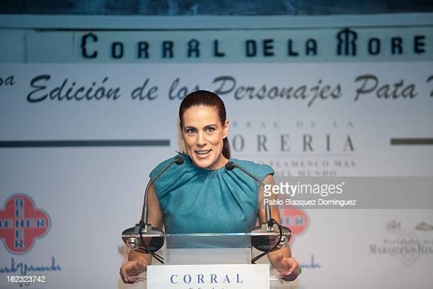 Alicia Senovilla attends the 'Pata Negra' Awards at Corral de la Moreria on February 21 2013 in Madrid Spain
