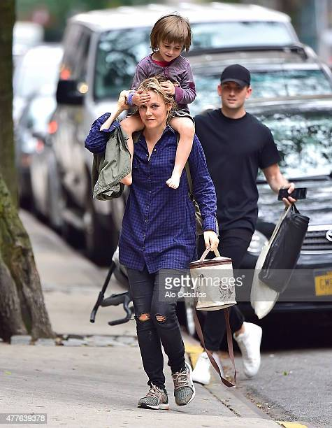 Alicia Silverstone and Bear Blu Jarecki are seen in soho on June 18 2015 in New York City