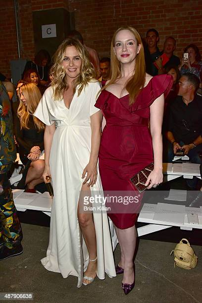 Alicia Silverstone and Christina Hendricks attend Christian Siriano during Spring 2016 New York Fashion Week at ArtBeam on September 12 2015 in New...