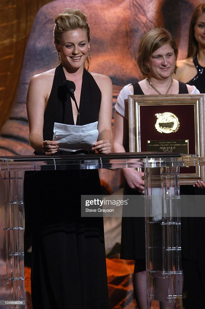 Alicia Silverstone and Melissa Clark accept the Children's Programming -Series Award for 'Braceface.'