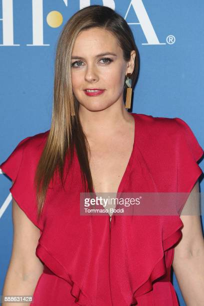 Alicia Silverstone attends the Hollywood Foreign Press Association Hosts Annual Holiday Party And Golden Globes 75th Anniversary Special Screening at...