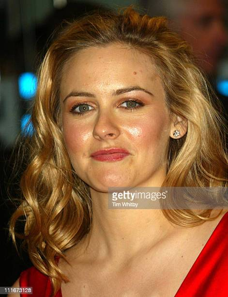 Alicia Silverstone during 2004 BAFTA Awards Arrivals at The Odeon Leicester Square in London United Kingdom