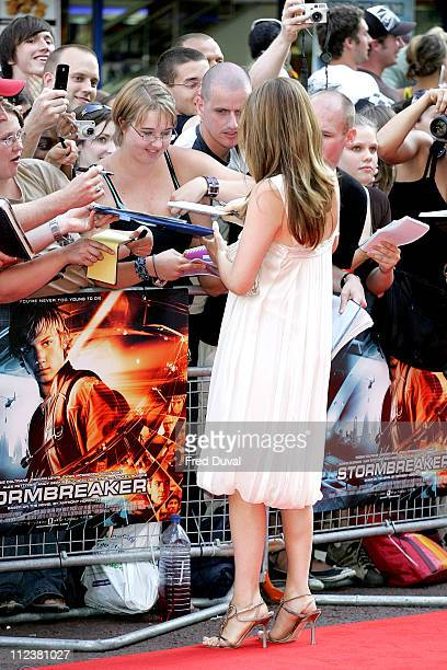 Alicia Silverstone during 'Stormbreaker' London Premiere at Vue West End in London Great Britain