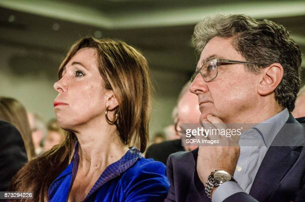 Alicia Sánchez Camacho and Enric millo leaders of the popular party in Catalonia during the political rally The Popular Party of Catalonia has...