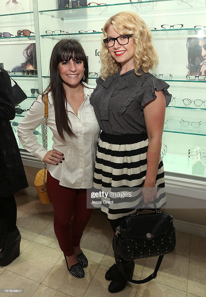 Alicia Surio and Shana Honeyman attend the Grand Opening of The Eye Gallery In Los Angeles on December 6, 2012 in Los Angeles, California.