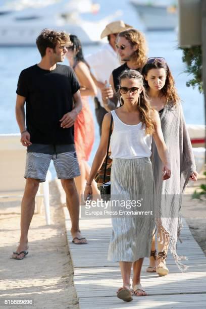 Alicia Vikander and Jon Kortajarena are seen on July 14 2017 in Ibiza Spain