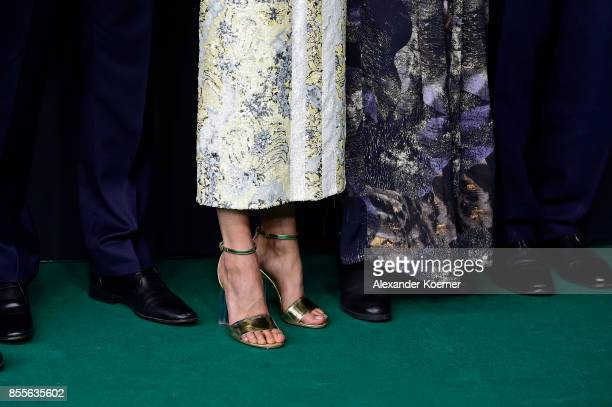Alicia Vikander and Lisa Langseth shoe details attend the 'Euphoria' premiere during the 13th Zurich Film Festival on September 29 2017 in Zurich...