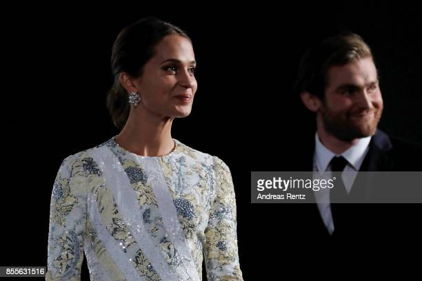 Alicia Vikander and Mark Stanley are seen on stage at the 'Euphoria' premiere during the 13th Zurich Film Festival on September 29 2017 in Zurich...