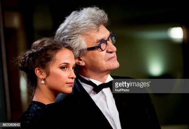 Alicia Vikander and Wim Wenders attends 'Submergence' premiere during 65th San Sebastian Film Festival on September 22 2017 in San Sebastian Spain