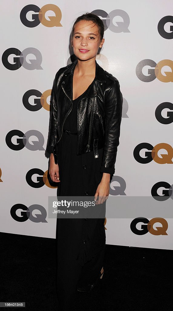 Alicia Vikander arrives at the GQ Men Of The Year Party at Chateau Marmont Hotel on November 13, 2012 in Los Angeles, California.