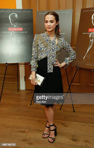 Alicia Vikander attends 'Ex Machina' New York Premiere at Crosby Street Hotel on April 6 2015 in New York City