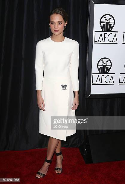Alicia Vikander attends The 40th Annual Los Angeles Film Critics Association Awards at InterContinental Hotel on January 9 2016 in Century City...