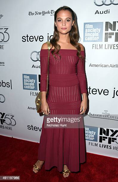 Alicia Vikander attends the 53rd New York Film Festival 'Steve Jobs' at Alice Tully Hall Lincoln Center on October 3 2015 in New York City