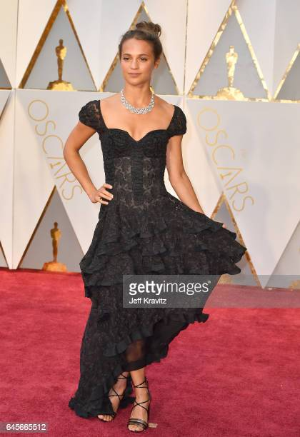 Alicia Vikander attends the 89th Annual Academy Awards at Hollywood Highland Center on February 26 2017 in Hollywood California