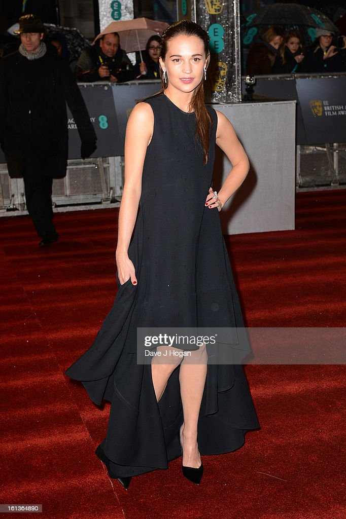 Alicia Vikander attends The EE British Academy Film Awards 2013 at The Royal Opera House on February 10, 2013 in London, England.