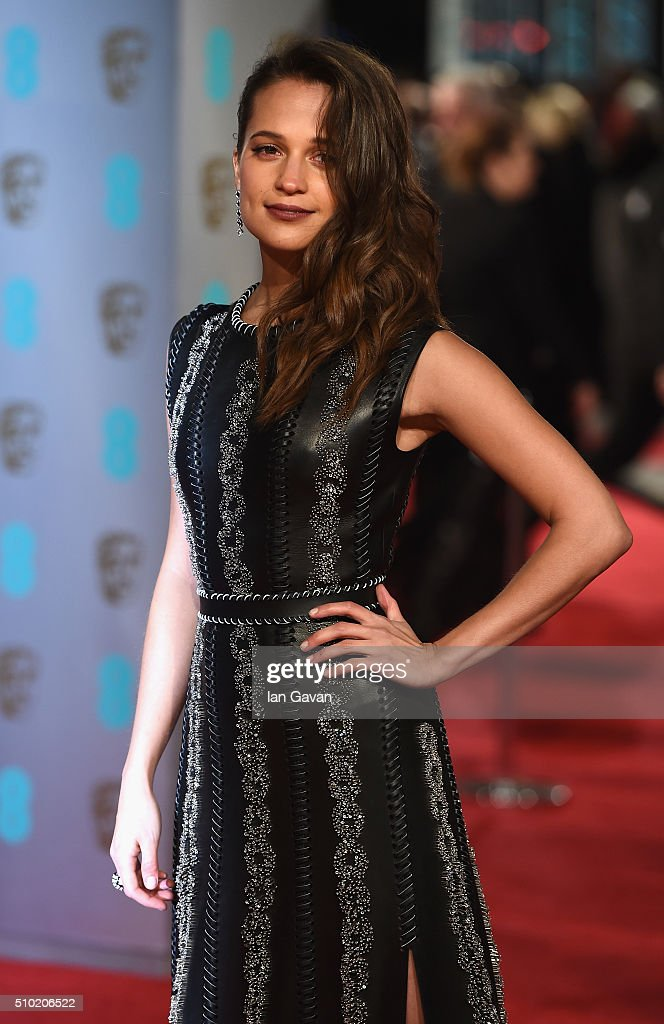 <a gi-track='captionPersonalityLinkClicked' href=/galleries/search?phrase=Alicia+Vikander&family=editorial&specificpeople=7246025 ng-click='$event.stopPropagation()'>Alicia Vikander</a> attends the EE British Academy Film Awards at the Royal Opera House on February 14, 2016 in London, England.