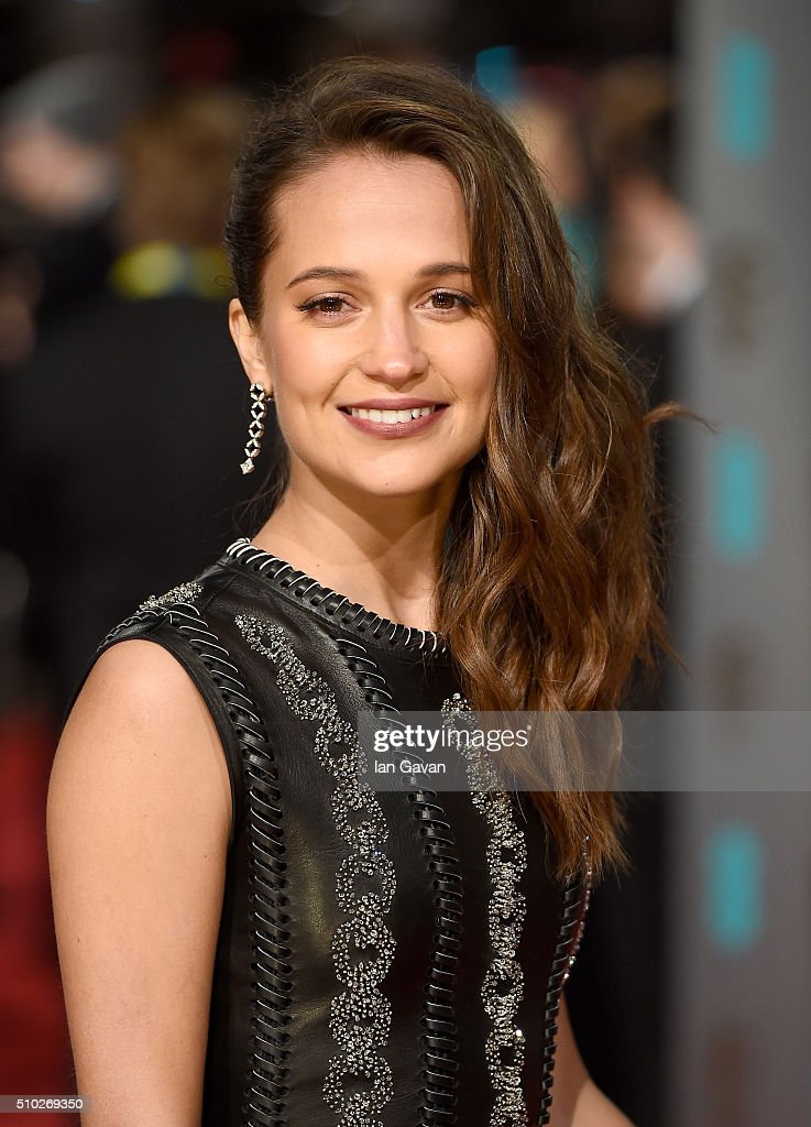 Alicia Vikander attends the EE British Academy Film Awards at the Royal Opera House on February 14, 2016 in London, England.