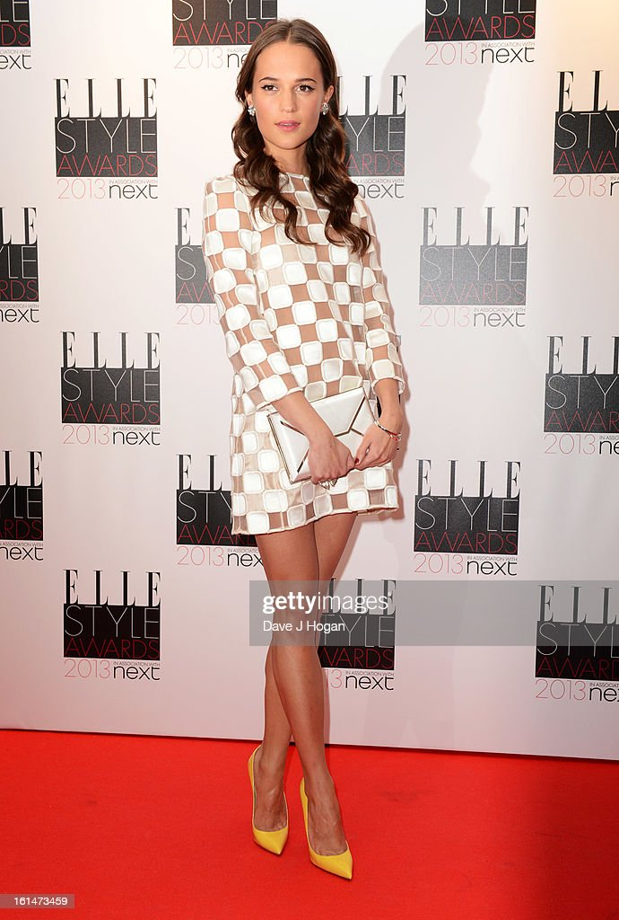 Alicia Vikander attends The Elle Style Awards 2013 at The Savoy Hotel on February 11, 2013 in London, England.