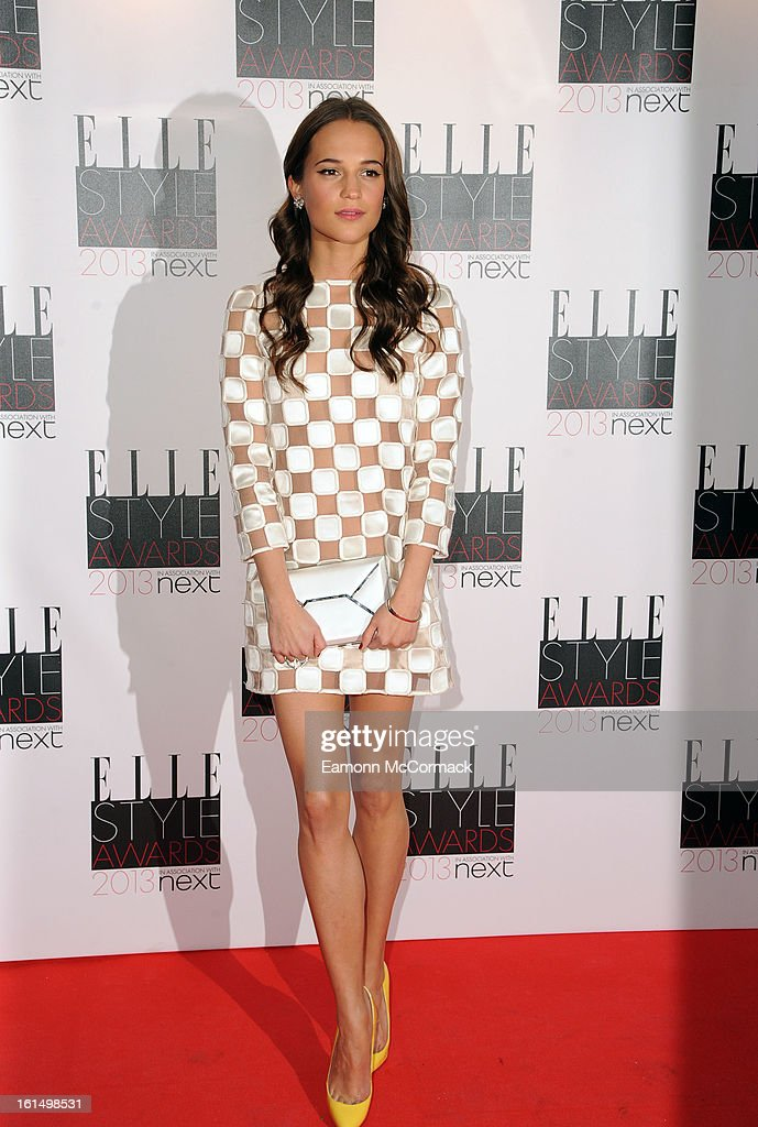 Alicia Vikander attends the Elle Style Awards 2013 on February 11, 2013 in London, England.