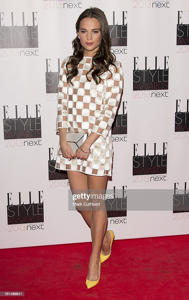<a gi-track='captionPersonalityLinkClicked' href=/galleries/search?phrase=Alicia+Vikander&family=editorial&specificpeople=7246025 ng-click='$event.stopPropagation()'>Alicia Vikander</a> attends the Elle Style Awards on February 11, 2013 in London, England.