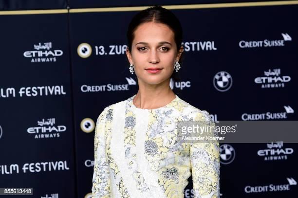 Alicia Vikander attends the 'Euphoria' premiere during the 13th Zurich Film Festival on September 29 2017 in Zurich Switzerland The Zurich Film...
