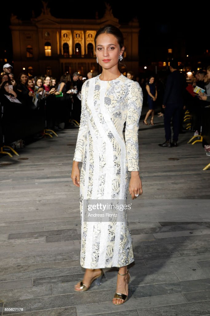 Alicia Vikander attends the 'Euphoria' premiere during the 13th Zurich Film Festival on September 29, 2017 in Zurich, Switzerland. The Zurich Film Festival 2017 will take place from September 28 until October 8.