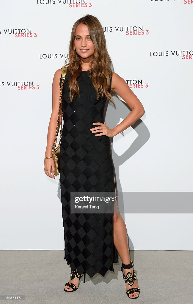 Alicia Vikander attends the Louis Vuitton Series 3 VIP Launch on September 20, 2015 in London, England.