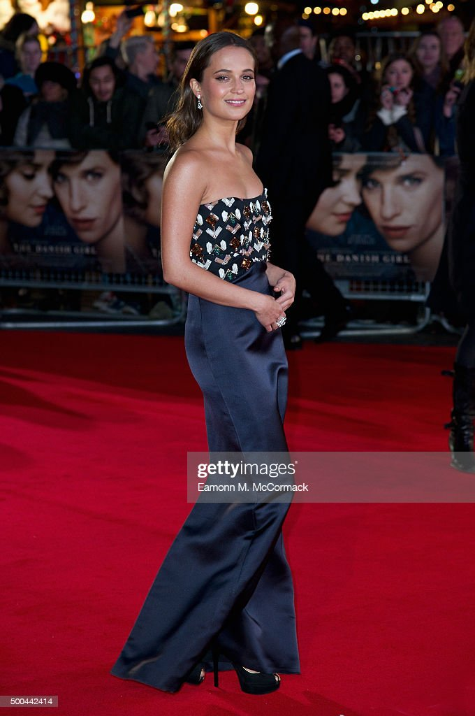 <a gi-track='captionPersonalityLinkClicked' href=/galleries/search?phrase=Alicia+Vikander&family=editorial&specificpeople=7246025 ng-click='$event.stopPropagation()'>Alicia Vikander</a> attends the UK Film Premiere of 'The Danish Girl' on December 8, 2015 in London, United Kingdom.