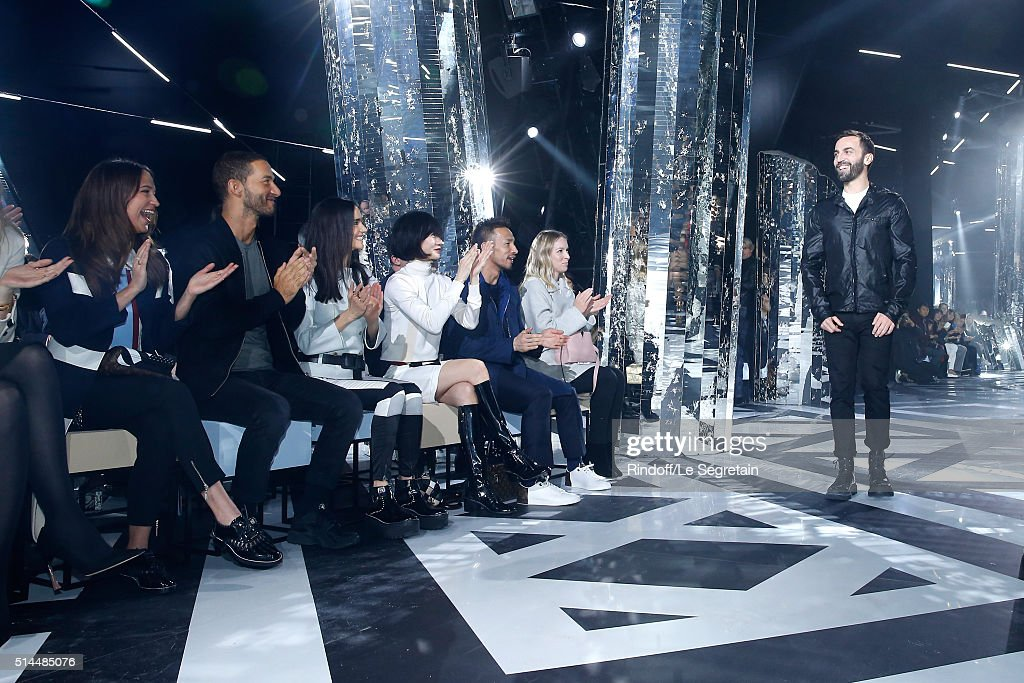 Alicia Vikander, Guest, Jennifer Connelly, Bae Doona, Hidetoshi Nakata and Stylist Nicolas Ghesquiere attend the Louis Vuitton show as part of the Paris Fashion Week Womenswear Fall/Winter 2016/2017. Held at Louis Vuitton Foundation on March 9, 2016 in Paris, France.