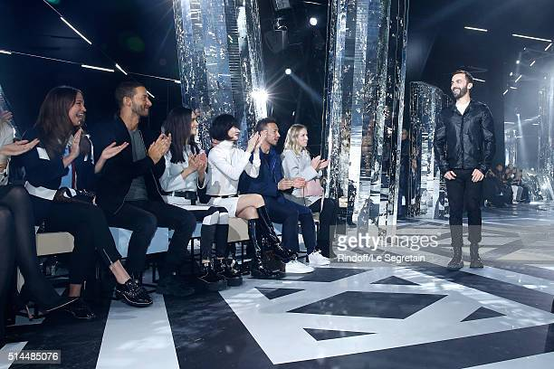 Alicia Vikander Guest Jennifer Connelly Bae Doona Hidetoshi Nakata and Stylist Nicolas Ghesquiere attend the Louis Vuitton show as part of the Paris...