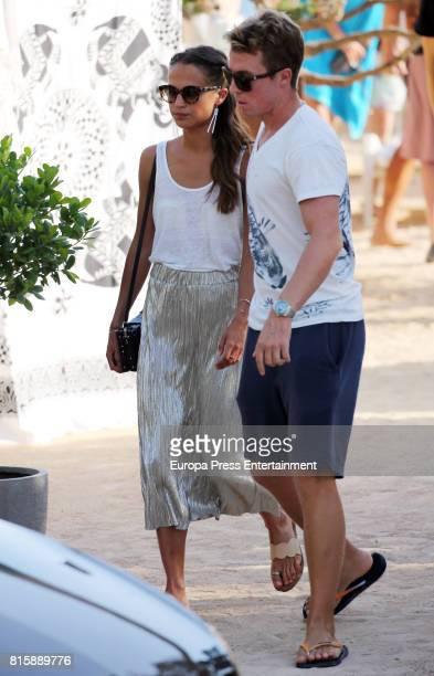 Alicia Vikander is seen on July 14 2017 in Ibiza Spain