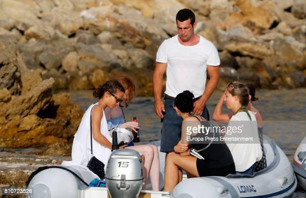 Alicia Vikander is seen on July 7 2017 in Ibiza Spain