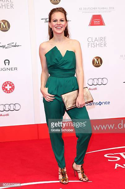 Alicia von Rittberg during the German Film Ball 2016 arrival at Hotel Bayerischer Hof on January 16 2016 in Munich Germany
