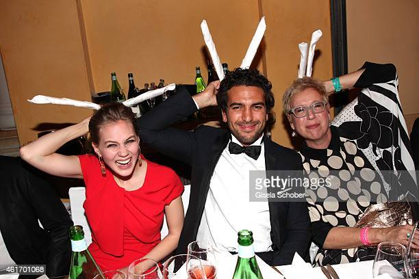 Alicia von Rittberg Elyas M'Barek Doris Doerrie during the German Filmball 2015 at Hotel Bayerischer Hof on January 17 2015 in Munich Germany