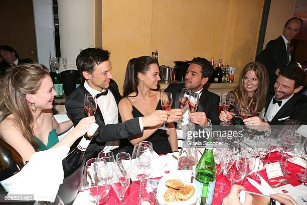 Alicia von Rittberg Florian David Fitz girlfriend Julia Czechner and Elyas M'Barek Oliver Berben and his wife Katrin during the German Film Ball 2016...