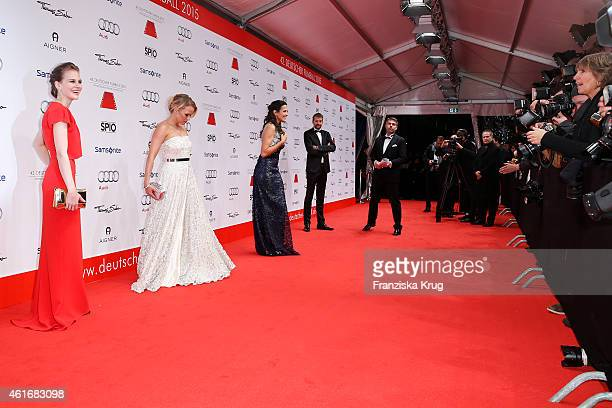 Alicia von Rittberg Nova Meierhenrich and Bettina Zimmermann attend the German Film Ball 2015 on January 17 2015 in Munich Germany