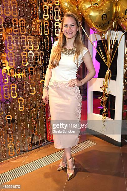 Alicia von Rittberg wearing a dress by Aigner during the 50th Anniversary of AIGNER on April 16 2015 in Munich Germany